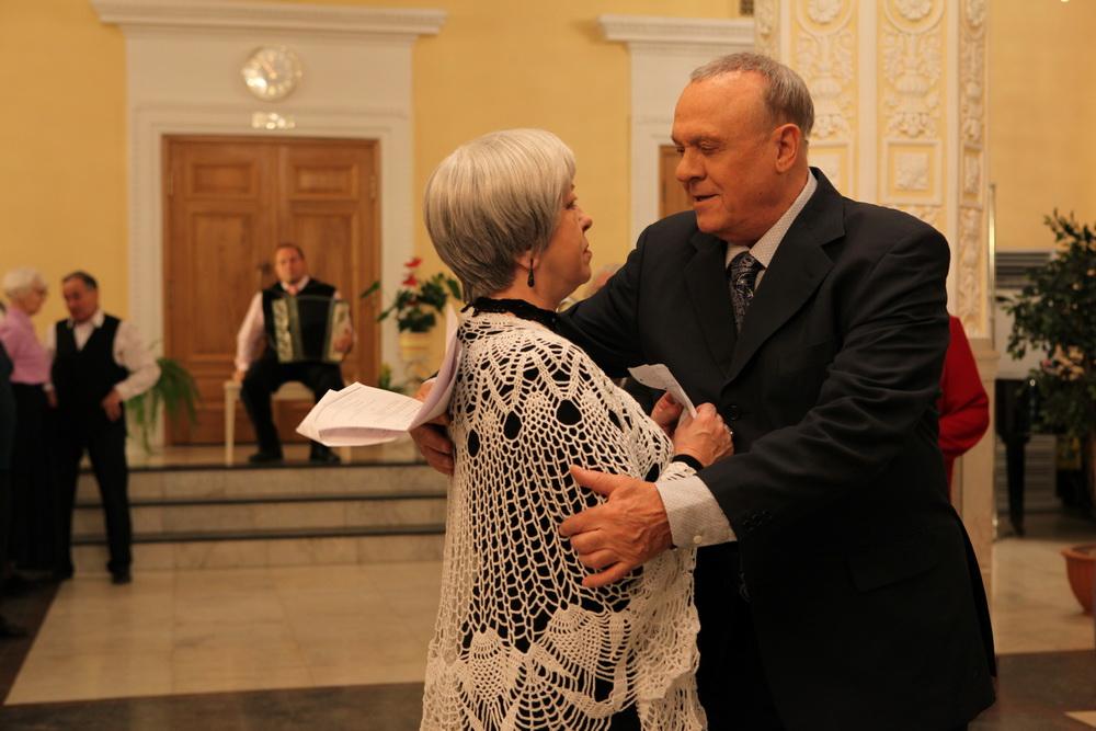 Владимир Меньшов и Ольга Волков: уроки танцев